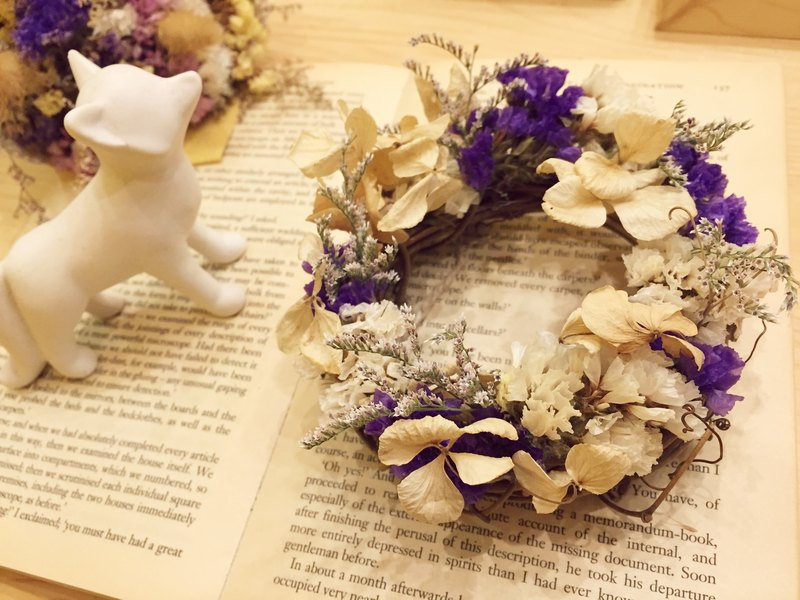 [Dry Flower] Hydrangea Wreath Birthday Gift Wedding