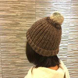 Handmade hand-made wool hat collar with two colors (only one)