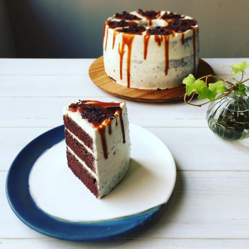 海焦巧克力戚風蛋糕8吋