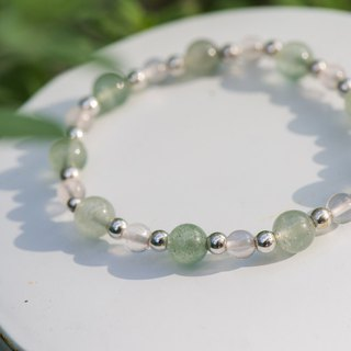 [Woody'sHandmade] Liang II. Green strawberry crystal bracelet. A section.