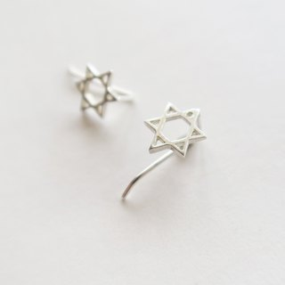 925 Silver Star Earrings-Sold as a Pair
