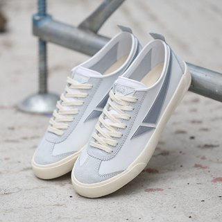 TOUCH GROUND VINTAGE BADMINTON SNEAKERS WHITE SILVER P00000HL