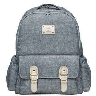 Gray Blue Denning Go Go Bag Walking Bag_Mom Bag