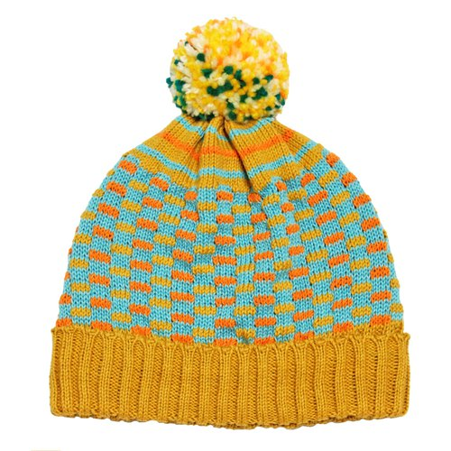 Mustard Circus Detachable Fur Ball Wool Cap - for Tiffany Liu