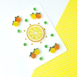 Hand made decorative cards-Orange