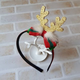 Colorful Christmas styling headband / gold
