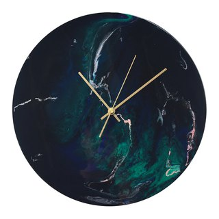 [Northern Lights · Moon Body · Wall Clock] 30cm