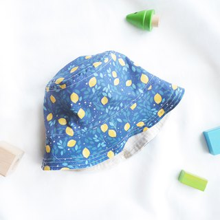 Lightweight cotton kids double fisherman hat | Blueberry lemon