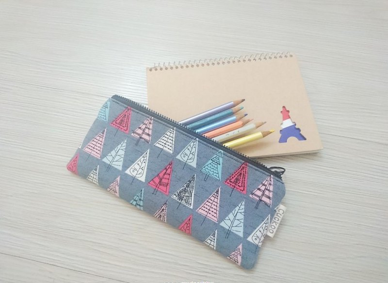 Pencil case stationery cotton linen pen bag tool bag storage bag forest section