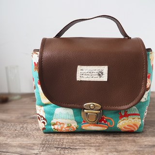 (Large camera bag) Single small single eye camera thick cotton camera bag (afternoon tea cake) BZ11