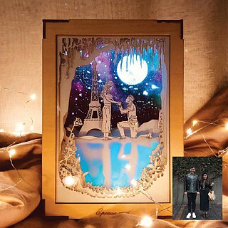 Exclusive Orders - | Light and Shadow Stories | Paper Carved Night Lights | Special Order | Us under the Moon |