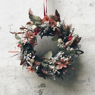 Flower Wreath!! [Wisdom Goddess - Athena] Dry Wreath Arrangement for Christmas