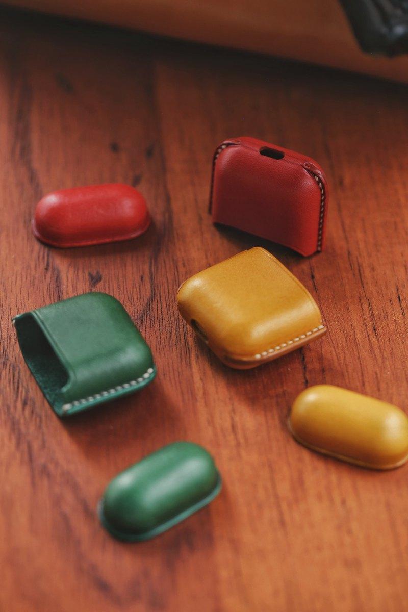 純手工植鞣革塑形AirPods 皮革套 蘋果無線耳機保護套