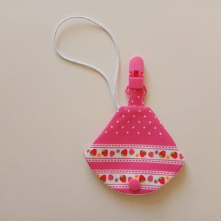 Strawberry nipple dust jacket clip nipple clip + pacifier sleeve vanilla nipple available pacifier bag
