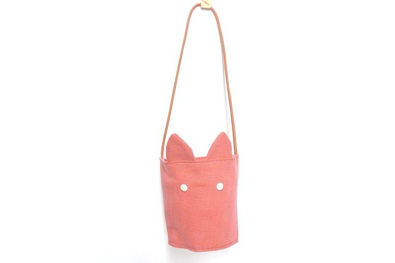兔耳朵環保杯套- 粉紅