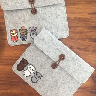 Felt Cat Document Bag for iPad and other stationery