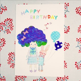 Postcard birthday card small Fu Sophie