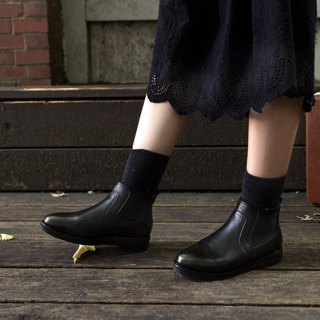 New product special [Northern Country Forest] plain noodle Erxi short boots _ black