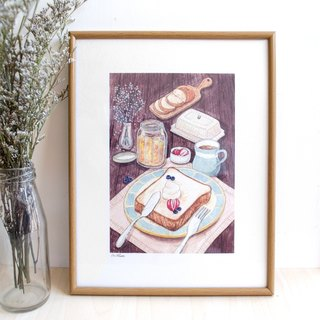 Breadfast- illustrated print