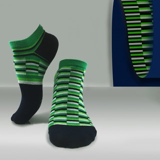 socks_green illusion / irregular / socks / grenn