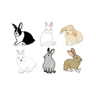 1212 play design fun funny stickers everywhere - rabbit come to 啰