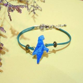 Origami Embroidery Blue Gradient Fly Paper Crane Bracelet Hand Embroidery
