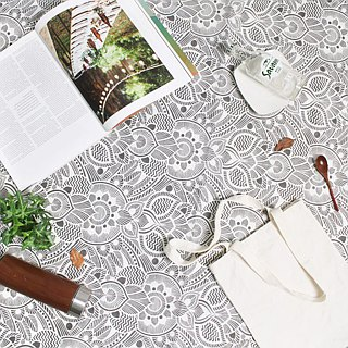 Limited flower cloth series lightweight picnic mat / beach mat (Wang Lai Cooperative)
