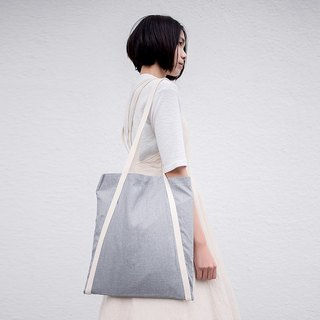 Rin ACE TOTE - Gray Embroidered Apron Think A-Tote Bag