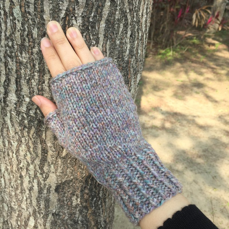 Xiao fabric hand-knit wool mitt watercolor