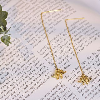 二毛银[Taste of childhood Stegosaurus solid brass hanging earrings] can mix and match dinosaurs into a pair