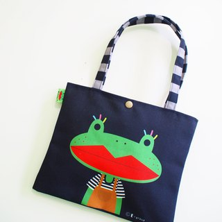 Shoulder bag double-sided design value-for-money discount 500 canvas bag tote bag cat frog
