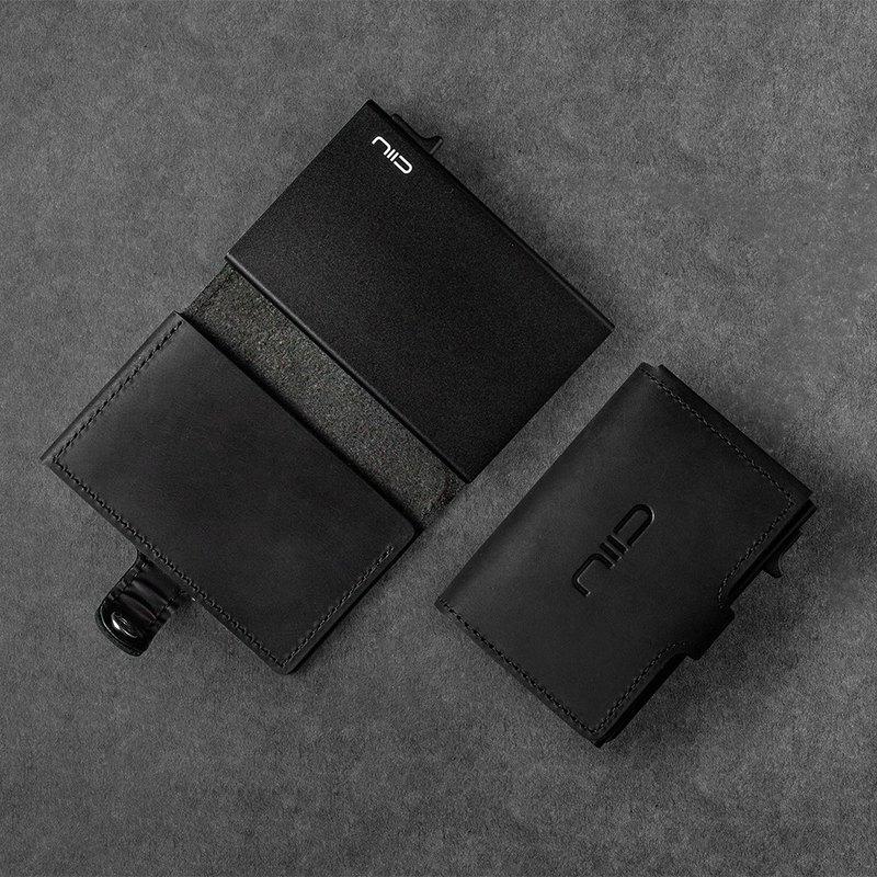 SLIDE Mini Wallet 防盜刷真皮智慧卡夾 黑色