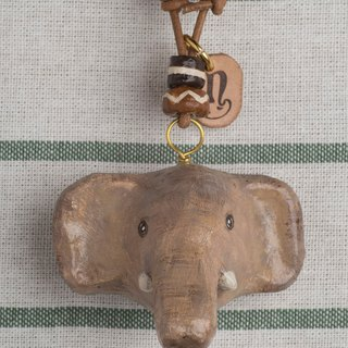 elephant paper mache necklace