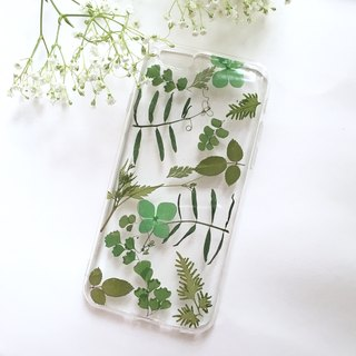 Greenery :: pressed flowers phone case