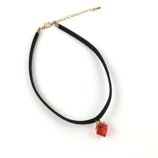 Red crystal necklace gift