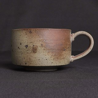 Gray glaze two-color coffee cup