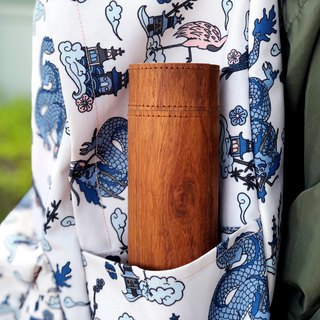 High-protection thermos (including Fudao 316 thermos 350ml)_Selected natural wood