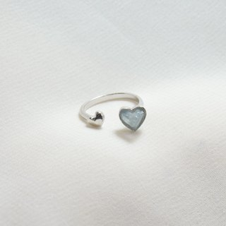 Double miniheart ring