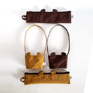 Goody Bag - Chocolate Bear and Caramel Bear / Eco-friendly Cutlery Bag + Beverage Bag / Girlfriend Sharing Group