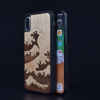 Personalized custom holiday gift wave of about Iphone X 8 6 Plus Samsung Galaxy S7 S8 original handmade wooden phone shell