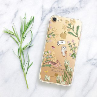 Animal clear phone case Floral iPhone 8plus Case LG G6 case Galaxy s8 case note8