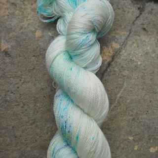 Hand dyed lace thread. Sprite (55 BFL/45 Silk)