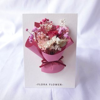 Dry Flower Card - Hermes Paper / Dry Flower / Handmade Card / Birthday Card / Opening Card / Greeting Card