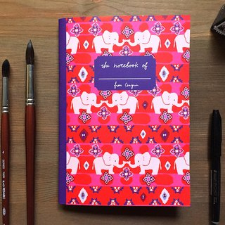 Elephant A5 Checkered Notebook