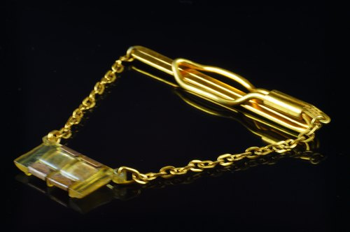 6e26aaa7b8de [C'est Cufflinks] US MICKO vintage HK chain tie clip - Designer cufflinks |  Pinkoi