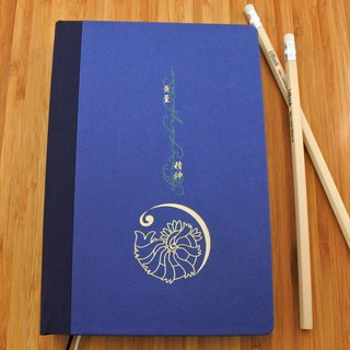 366 flower notes (book cover: blue + dark blue) bonus 366 flower stickers