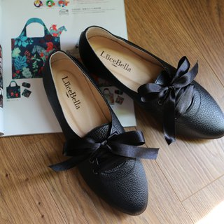 [double-sided girl] 2 wear college Oxford shoes _ classic black