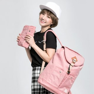 Doughnut Waterproof Soda Cracker Backpack - Strawberry Milkshake