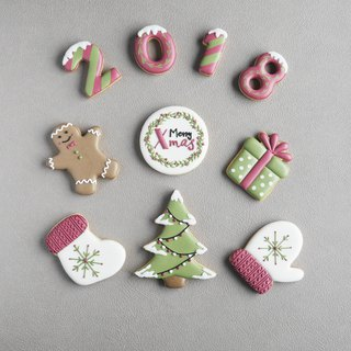 Super-free shipping---Leona hand-made ((warm Christmas frosting biscuit))