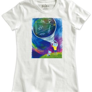 Classic white short-sleeved T-shirt _ summer memory series - Oh! Long time no see (Female M no inventory)